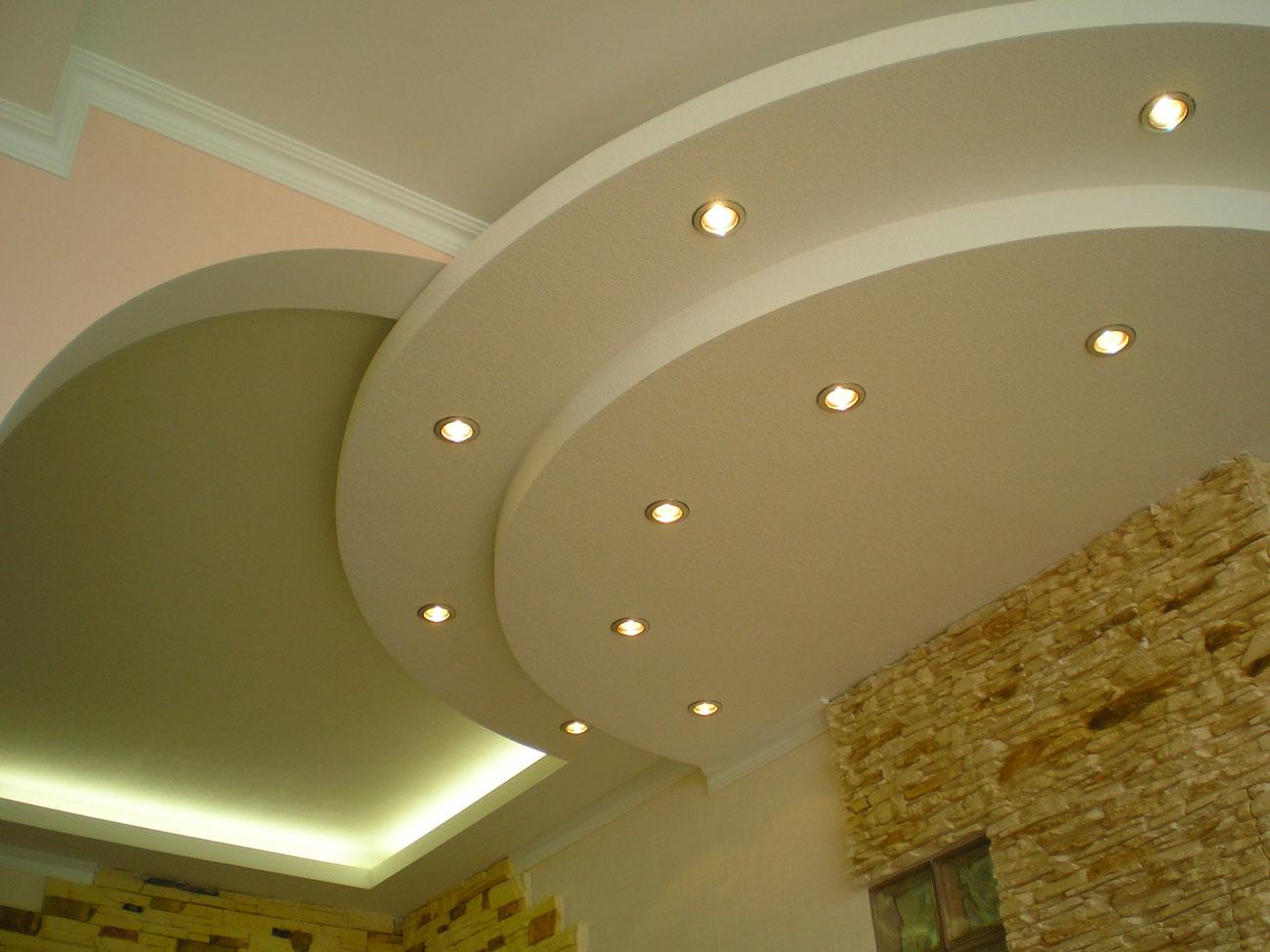 Гипсокартонные конструкции потолок