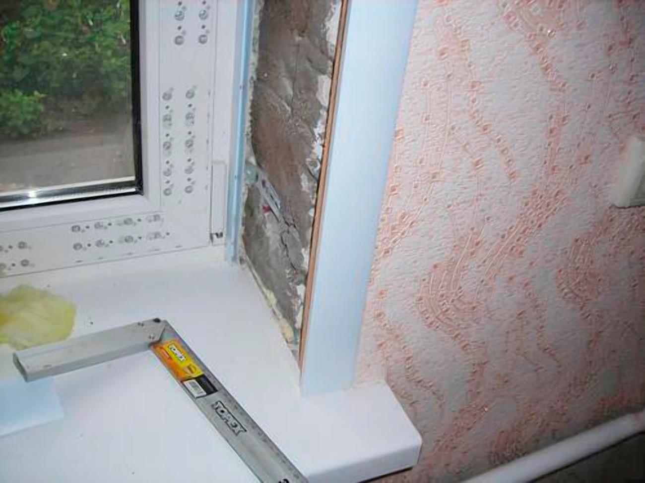 Как сделать на окнах откосы из пластика