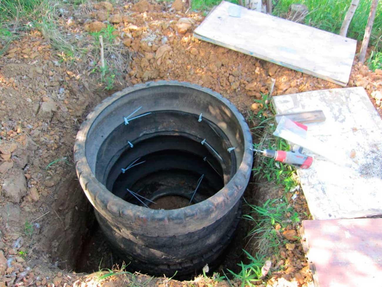 Сточная яма из покрышек своими руками фото 856