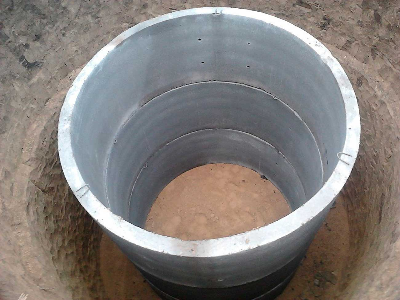 Сливная яма из бетонных колец 46