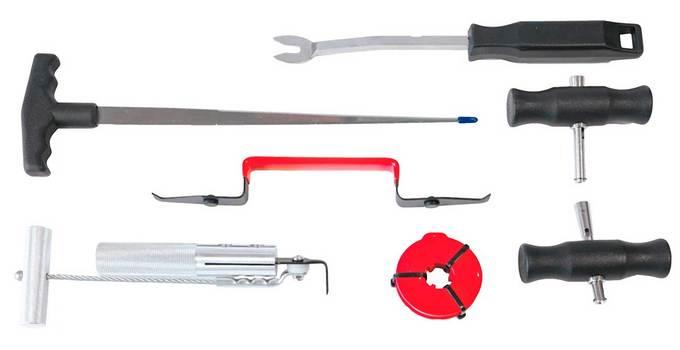 Необходимые инструменты для работы со стеклом